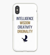 Blue words iPhone Case