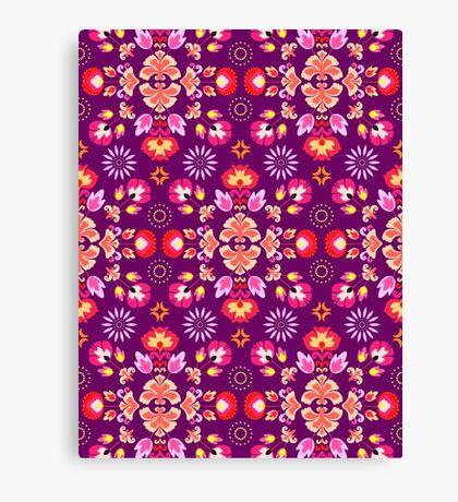 Fiesta Folk Purple #redbubble #folk Canvas Print