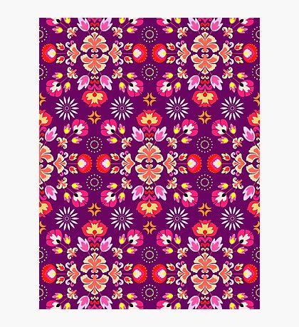 Fiesta Folk Purple #redbubble #folk Photographic Print