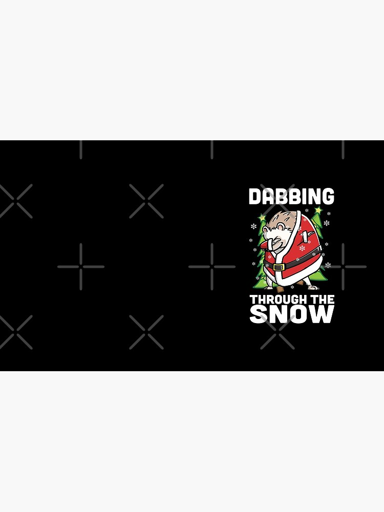 Funny Hedgehog Dabbing Through The Snow Dab Christmas by ilovepaws