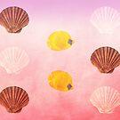 Seashells And Butterflyfish by hurmerinta