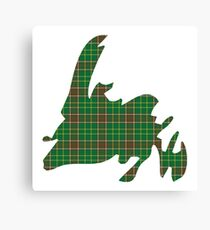 NewfoundPod - Plain Newfoundland Tartan Map Canvas Print