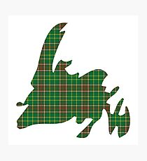 NewfoundPod - Plain Newfoundland Tartan Map Photographic Print