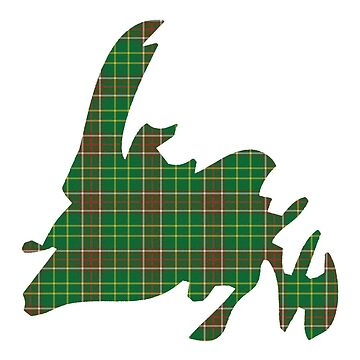 NewfoundPod - Plain Newfoundland Tartan Map by newfoundpod