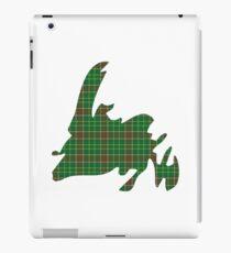 NewfoundPod - Plain Newfoundland Tartan Map iPad Case/Skin