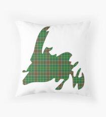 NewfoundPod - Plain Newfoundland Tartan Map Throw Pillow