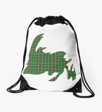 NewfoundPod - Plain Newfoundland Tartan Map Drawstring Bag