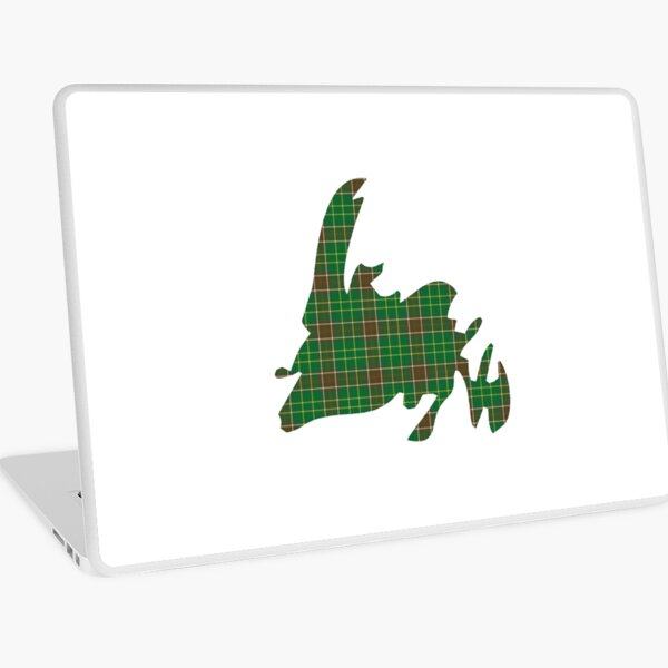 NewfoundPod - Plain Newfoundland Tartan Map Laptop Skin