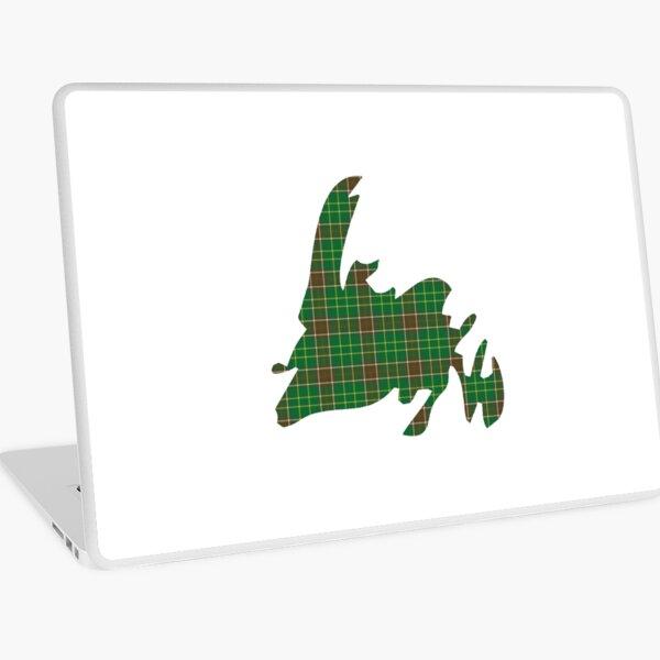 NewfoundPod - Plain Newfoundland Tartan Map Laptop Skin