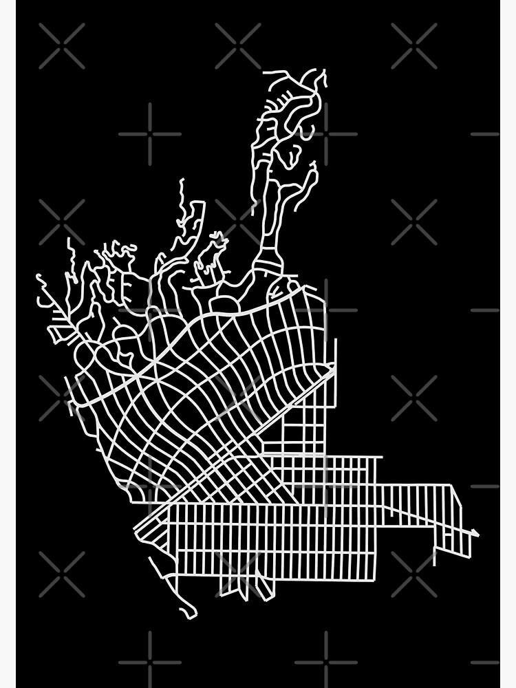 Beverly Hills, LA, USA Street Network Map Graphic by ramiro