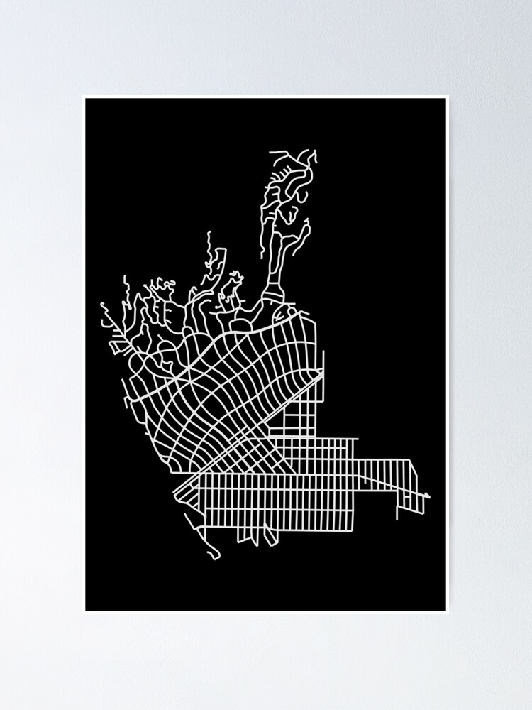 Alternate view of Beverly Hills, LA, USA Street Network Map Graphic Poster