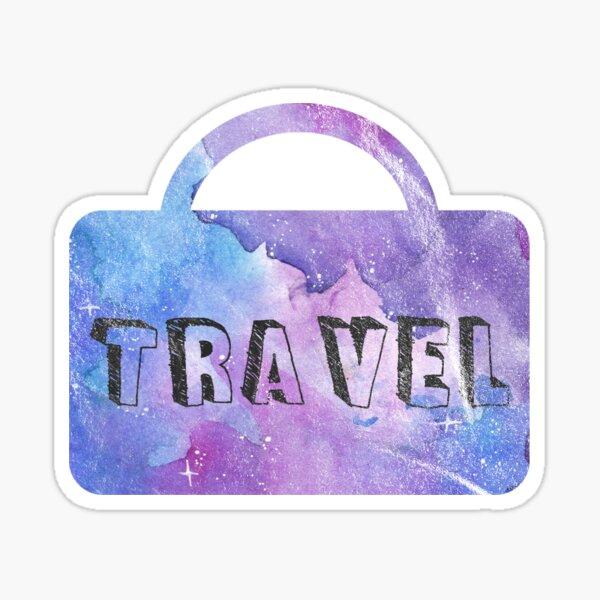 Verwaschen Galaxie Travel Koffer Sticker