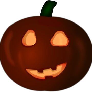 Halloween Red Pumpkin by MartinV96