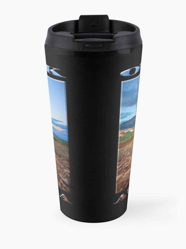 Alternate view of Rawnsley Bluff (poster on black) Travel Mug