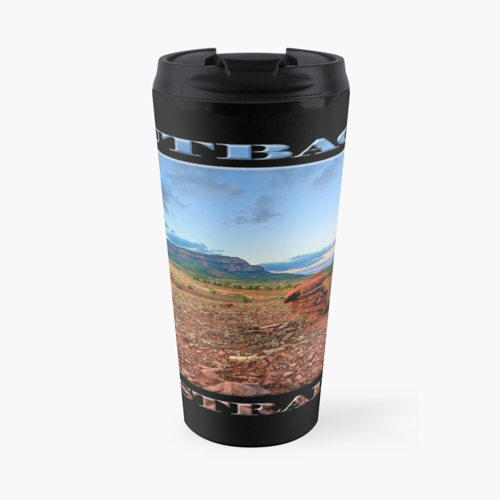 Rawnsley Bluff (poster on black) Travel Mug