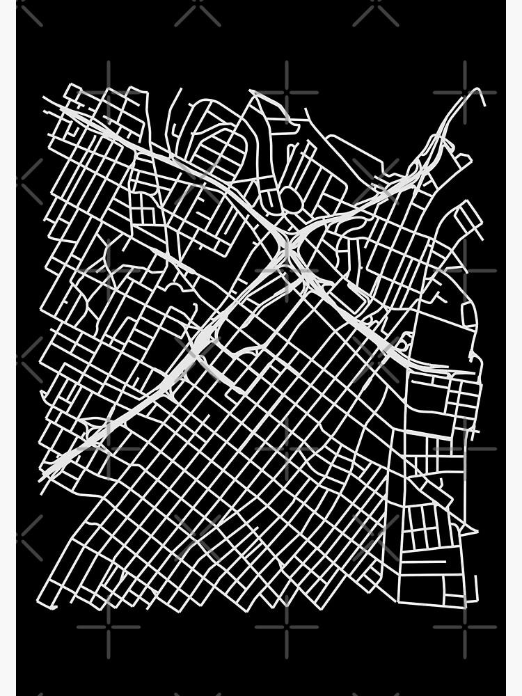 Bunker Hill, LA, USA Street Network Map Graphic by ramiro