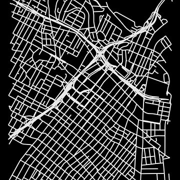 Bunker Hill, LA, USA Street Network Map Graphic by ramiro