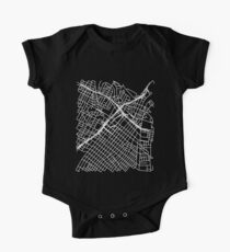 Bunker Hill, LA, USA Street Network Map Graphic One Piece - Short Sleeve