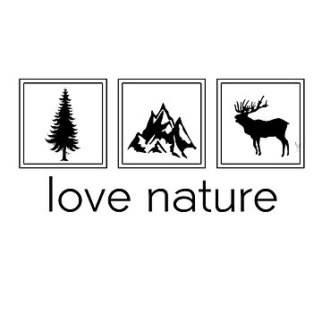 love nature hirsch mountain forest by StatementDesign