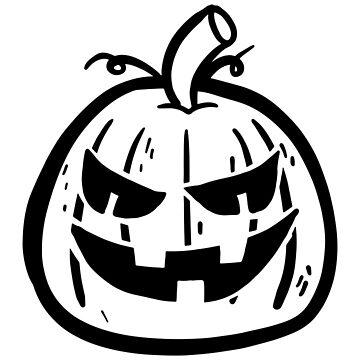 Halloween Pumpkin Black White by MartinV96