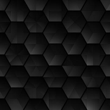 Dark black hexagonal Geometric grid background Modern dark abstract texture by Darcraft28
