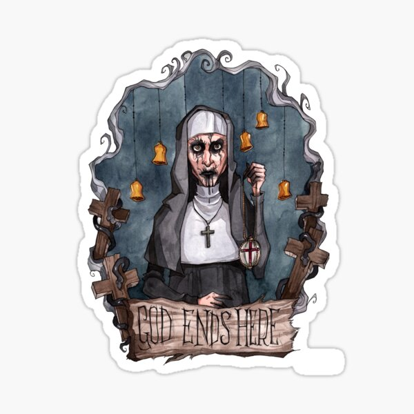 God Ends Here - The Nun Sticker