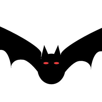 Halloween Bat Black Red by MartinV96