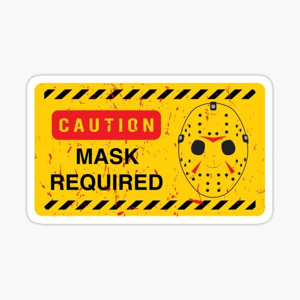 Caution Jason Land Sticker