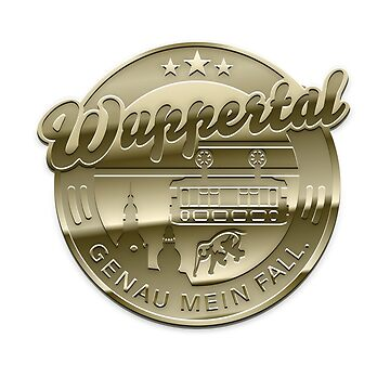 Wuppertal T-Shirt Design Gold by Spassprediger