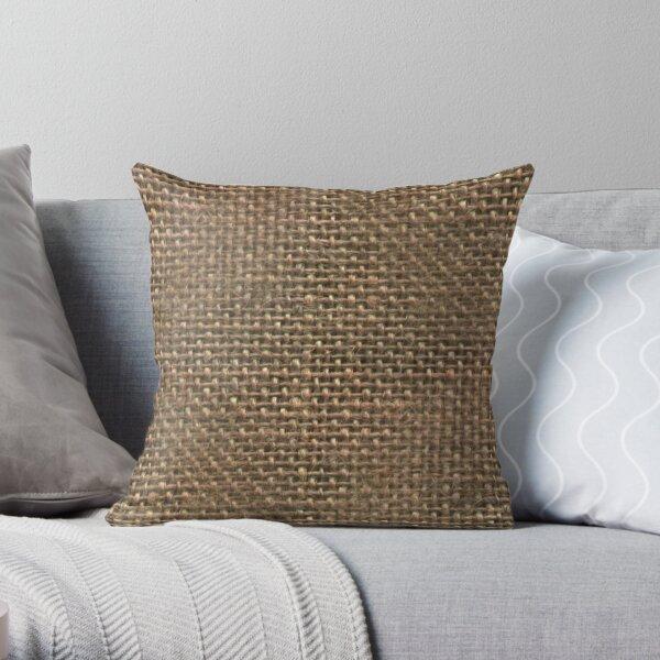 Jute Pattern Throw Pillow By Vishalr Redbubble