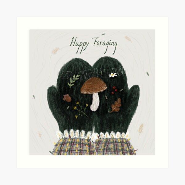 Happy Foraging Art Print
