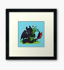 Dragons Love Grass Framed Print