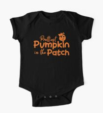 Halloween T-Shirts & Gifts: Prettiest Pumpkin in the Patch One Piece - Short Sleeve