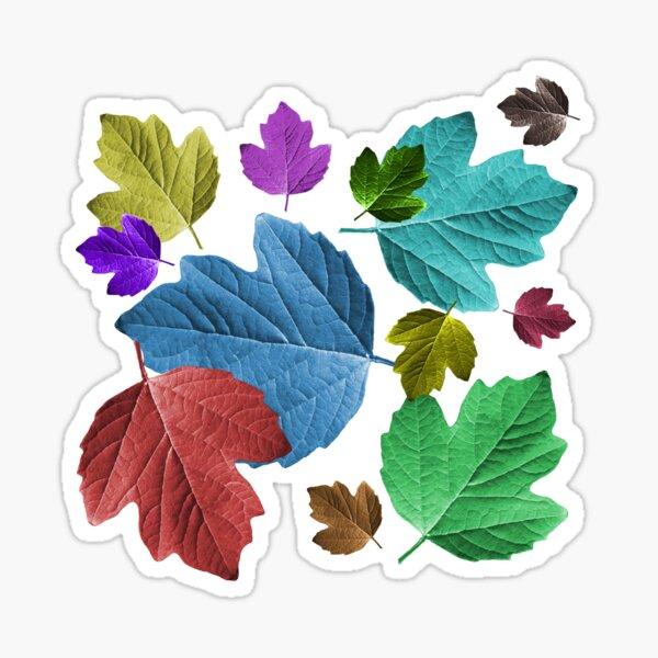 wundervolle, bunte Blätter, Herbst, Baum, Laub, Jahreszeit Sticker