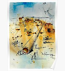 ALIYAH ISRAEL: Weinlese 1967 Sureal abstrakter Dali Print Poster