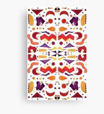 Bright Abstract Watercolor Shapes Canvas Print