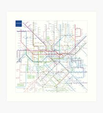 London Underground Map Art Print