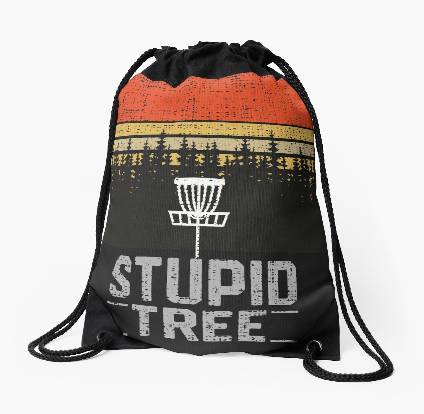 005f19b18 Stupid Tree Funny Frisbee Disc Golf T-Shirt Tee Gift