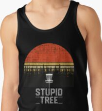 ad2ee10c Stupid Tree Funny Frisbee Disc Golf T-Shirt Tee Gift Men's Tank Top