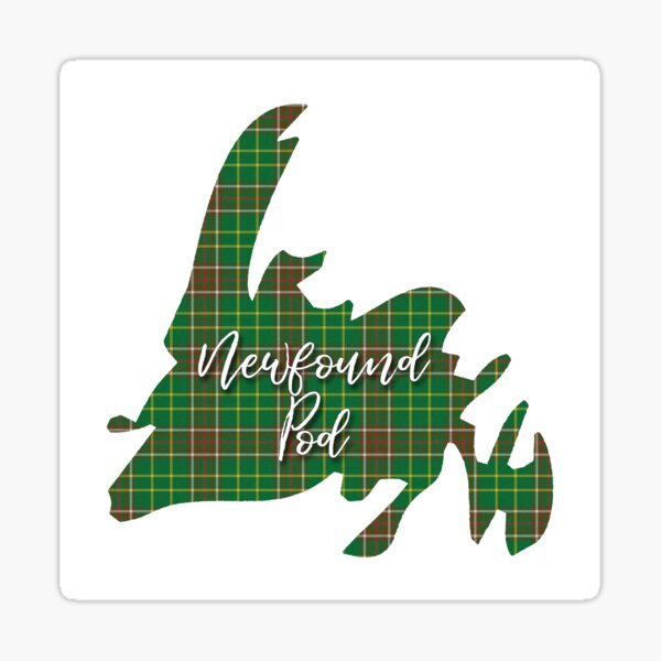 NewfoundPod - A Bite-Sized Podcast About Newfoundland - Newfoundland Tartan Map 2 Sticker