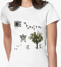 """""""Tranquillity' Women's Fitted T-Shirt"""