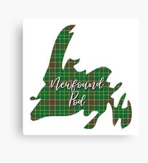 NewfoundPod - Newfoundland Tartan Map 3 Canvas Print