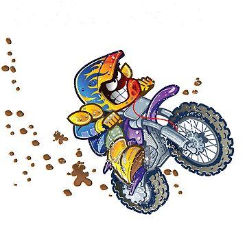 Moto X Hole Shot Motorcross Dirt Bikes  by antzyzzz