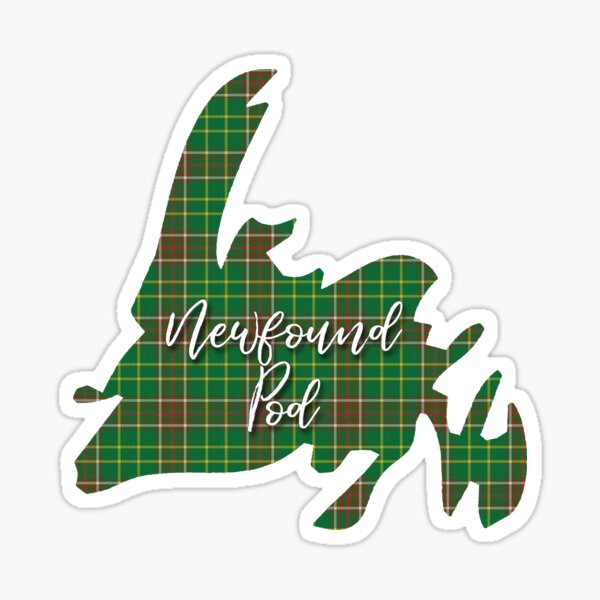 NewfoundPod - Newfoundland Tartan Map 3 Sticker