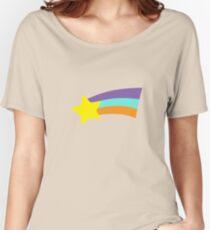 Mabel Rainbow Star Sweater Schwerkraft fällt Loose Fit T-Shirt