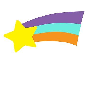 Mabel Rainbow Star Sweater Schwerkraft fällt von retrocot