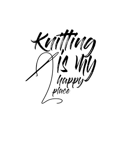 Mom Knitting Shirt Gift for Knitters Happy place by jacko89