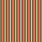 bold colorful stripes on red by Stacey Oldham