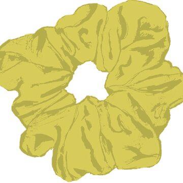 «Scrunchie jaune» par hammoudclaudia
