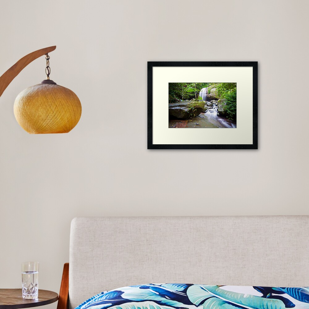 Serenity Falls Framed Art Print